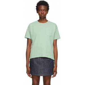 A.P.C. Green Hope T-Shirt  - KAB Pale Gr - Size: Extra Small