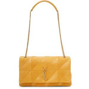 Saint Laurent Yellow Medium 'Carré Rive Gauche' Jamie Bag  - 7004 Saffran - Size: UNI