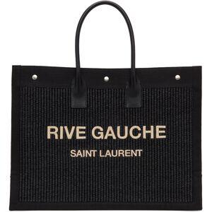 Saint Laurent Black 'Rive Gauche' East/West Noe Tote  - 1050 Black - Size: UNI