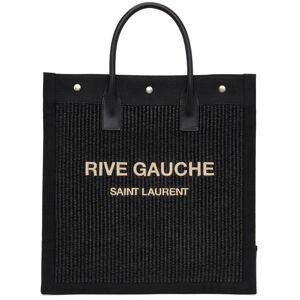 Saint Laurent Black 'Rive Gauche' North/South Noe Tote  - 1050 Black - Size: UNI
