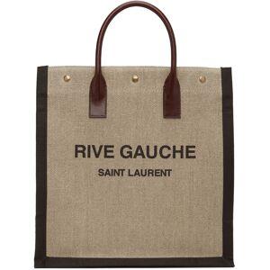 Saint Laurent Beige & Brown Rive Gauche North/South Tote  - 2076 Nat/Brwn - Size: UNI