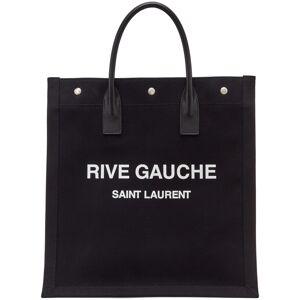 Saint Laurent Black 'Rive Gauche' Shopping Tote  - 1070 Black/White - Size: UNI