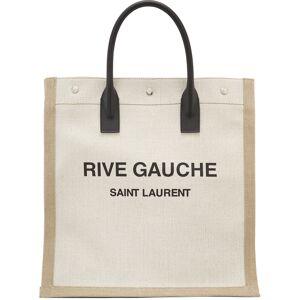 Saint Laurent Off-White & Tan 'Rive Gauche' Shopping Tote  - 9280 Linen - Size: UNI