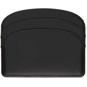 A.P.C. Black Demi-Lune Card Holder  - LZZ BLACK - Size: UNI