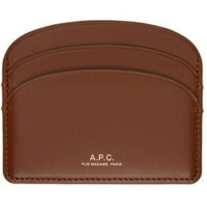 A.P.C. Brown Demi-Lune Card Holder  - CAD HAZELNUT - Size: UNI