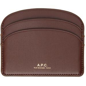 A.P.C. Burgundy Demi-Lune Card Holder  - GAE VINO - Size: UNI
