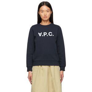 A.P.C. Navy Viva Sweatshirt  - IAK NAVY - Size: Extra Large