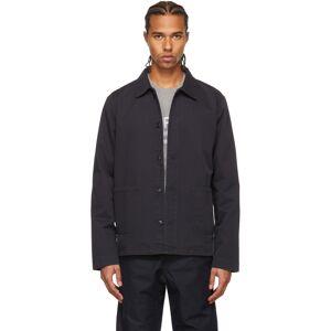 A.P.C. Black Kerlouan Shirt Jacket  - LZA FAUX BLACK - Size: Extra Large