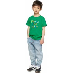Museum of Peace & Quiet SSENSE Exclusive Kids Green Scribble Little Kids T-Shirt  - GREENCLOVER - Size: 2T