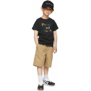 Museum of Peace & Quiet SSENSE Exclusive Kids Black Scribble Little Kids T-Shirt  - BLACK - Size: 3T
