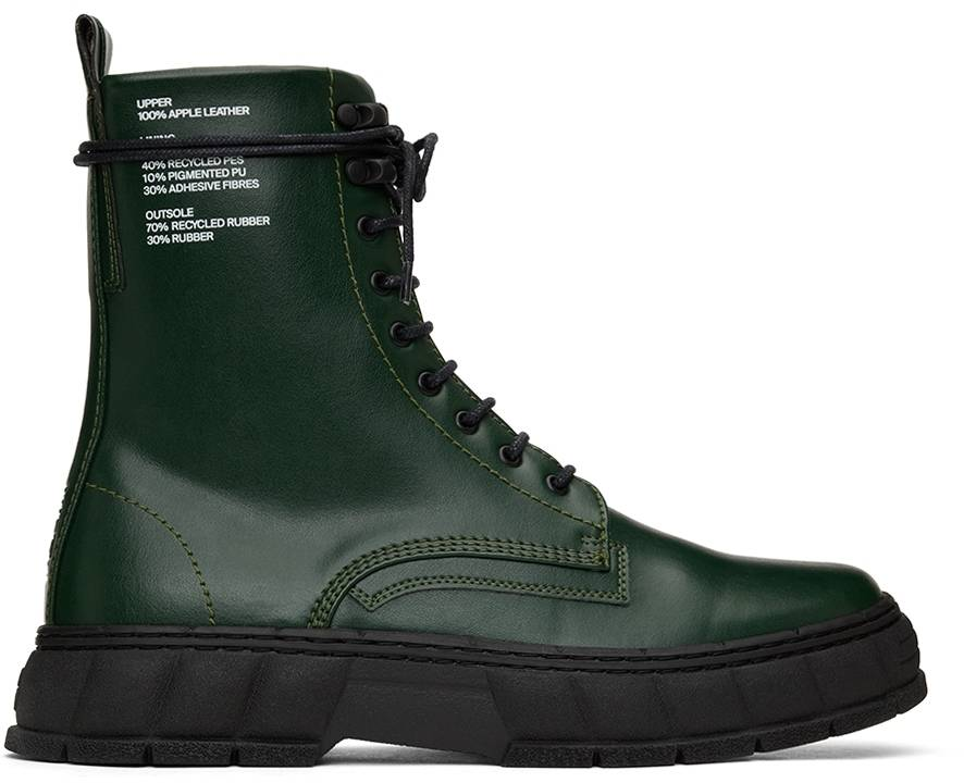 Virón Green Apple Leather 1992 Boots  - 50 GREEN - Size: 40