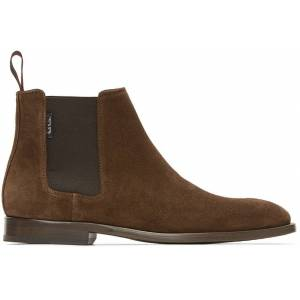 PS by Paul Smith Brown Suede Gerald Chelsea Boots  - DK BROWN 66 - Size: 41