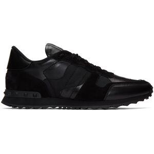 Valentino Garavani Black Valentino Garavani Camo Rockrunner Sneakers  - 0NO NERO/NE - Size: 39.5