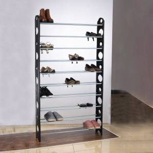 10-Tier Shoe Rack Fits 50-Pairs