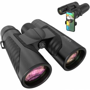 12x42 HD Binoculars for Adults with Universal Phone Adapter