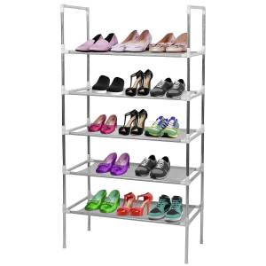 DailySale 5-Tiers Shoe Rack Shelves 15 Pairs Shoe Oraganizer