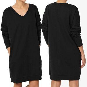 Haute Edition Women's Oversized Pullover Sweatshirt Dress