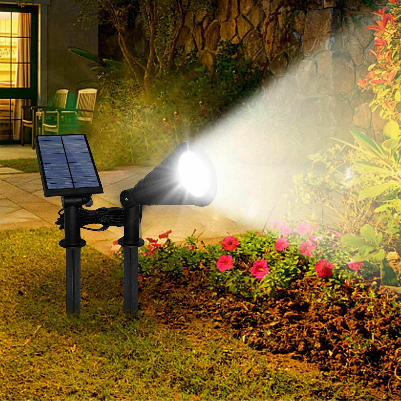 Solar Powered Spotlight Outdoor Garden Lamp Waterproof