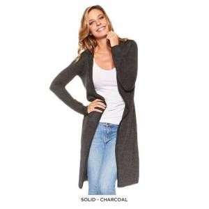 DailySale Stylish Long Hooded Cardigan - Assorted Colors