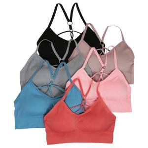 DailySale 6-Pack: Padded Ribbed Strappy Lounge Bralette