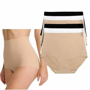 DailySale 6-Pack: Plus Size High-Waisted Tummy-Control No Show Briefs