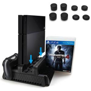 Agptek PS4 Vertical Stand with Cooling Fan