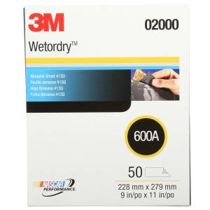 Wetordry 11 in. L X 9 in. W 600 Grit Silicon Carbide Sanding Sheet 50 pk