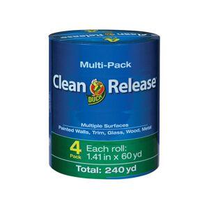Duck Clean Release 1.41 in. W X 60 yd L Blue Medium Strength Painter's Tape 4 pk