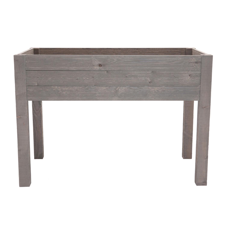 Outdoor Essentials 31.75 in. H X 45.5 in. W X 24 in. D Wood Elevated Garden Box Gray