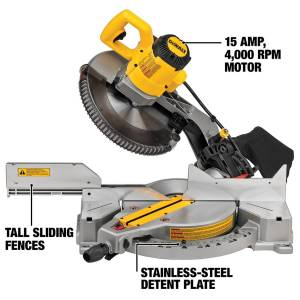 DeWalt 12 in. Corded Compound Miter Saw Bare Tool 120 V 15 amps 4000 rpm