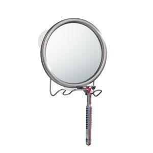 iDesign InterDesign Silver Steel Shower Mirror