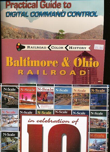 Bundle of 7 Books on Model Railroading Model Railroad Electronics 6; Baltimore & Ohio Railroad; Practical Guide to Digital Command Control; 10 Years