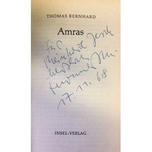 Amras. Bernhard, Thomas. [Fine] [Hardcover]