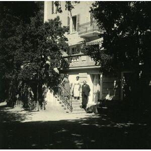 Switzerland Hotel d'Anniviers Vissoie Possemiers Amateur Stereoview Photo 1910 POSSEMIERS [ ]