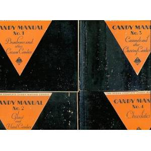 Iridor Complete Candy Making Course Four Volumes: Candy Manual No. 1 - Bonbons and Other Cream Candies; No. 2 - Glace and Hard Candies; No. 3 - Caram
