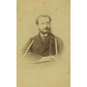 Metz France Metz Man Portrait Arm in Splint Medical Old CDV Photo Krier 1870 KRIER [ ]