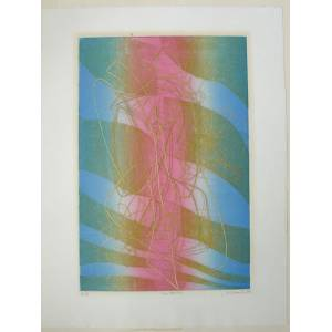 Stanley William Hayter engraving Sagittarius Engraving with soft-ground etching and scorper in colours on BFK Rives wove. Signed, dated, titled and i
