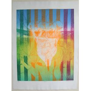 Stanley William Hayter etching Torso Engraving and soft-ground etching in colours on BFK Rives wove, signed, dated, titled and numbered 36/50 in penc