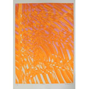 Stanley William Hayter etching Wind Soft-ground etching in colours on BFK Rives wove, signed, dated, titled and numbered IX/XV in pencil HAYTER, STAN