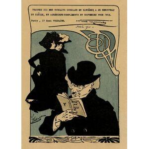 carte de voeux pour la nouvelle année 1901 pour Octave Uzanne Henri Thiriet [Fine]