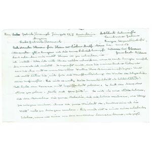 Eigenh. Brief mit Unterschrift sowie eigenh. beschriftete Porträtpostkarte mit Unterschrift. Schweitzer, Albert, Mediziner und Nobelpreisträger (1875