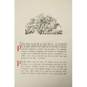Charles Lacoste. Dix estampes originales présentées par Rene-Jean LACOSTE, Charles [Fine] [Hardcover]
