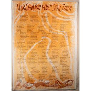 Une Chanson pour Don Juan. Affiche-poème hors commerce signé par les artistes. Michel Butor / Ania Staritsky [As New] [Softcover]