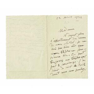 Lettre autographe signée AMAN-JEAN Edmond [ ] [Softcover]