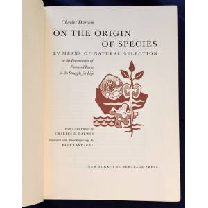 ON THE ORIGIN OF SPECIES; By Means of Natural Selection / or the Preservation of Favoured Races in the Struggle for Life / With a New Preface by Char