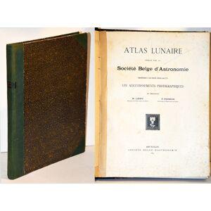 ATLAS LUNAIRE reproduisant à une échelle réduite aux 2/5 les agrandissements photographiques de Mrs M. LOEWY et P. PUISEUX. 47 planches. LOEWY Mauric