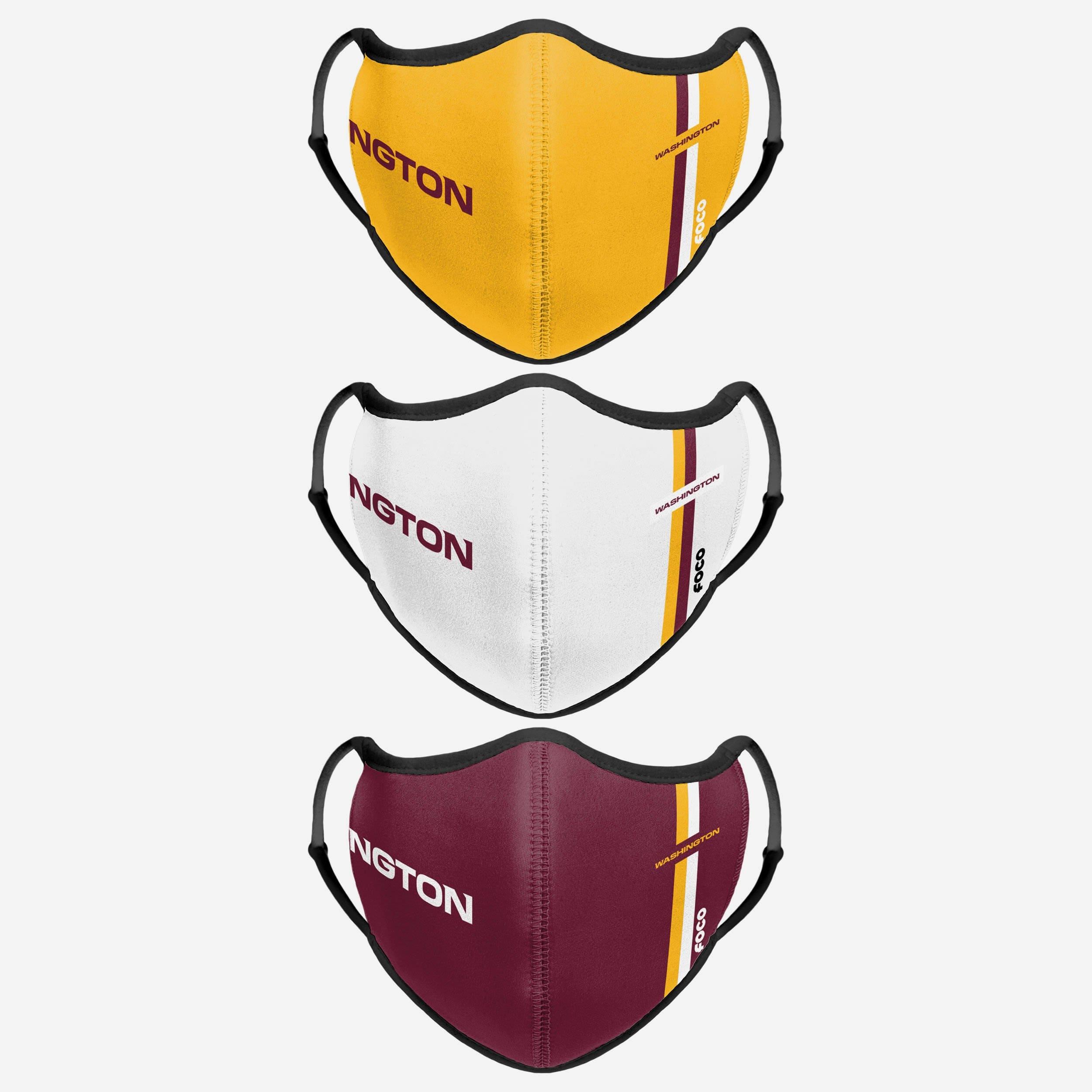 FOCO Washington Football Team Sport 3 Pack Face Cover