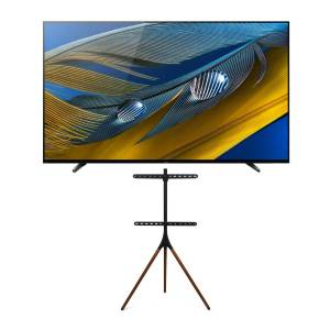Sony BRAVIA XR Series A80J 55-Inch Class HDR 4K UHD Smart OLED TV (2021 Model Year) with Kratos Home Easel Studio Stand in Black