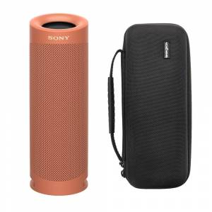 Sony SRSXB23 EXTRA BASS Bluetooth Wireless Portable Speaker (Coral Red) with Protective Case