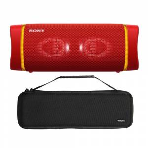 Sony SRSXB33 EXTRA BASS Bluetooth Wireless Portable Speaker with Knox Gear Hardshell Case Bundle in Red